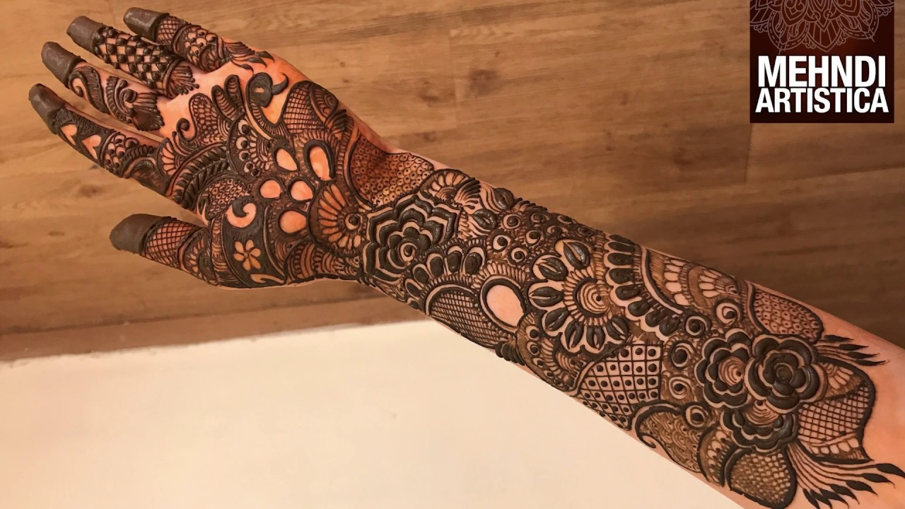 Intricate Henna Designs: Fully Filled Mehndi Design For Hands