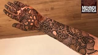 Fully Filled Mehndi Design For Hands |Learn Intricate Kaleeji Filler Henna Mehendi Design For Dulhan