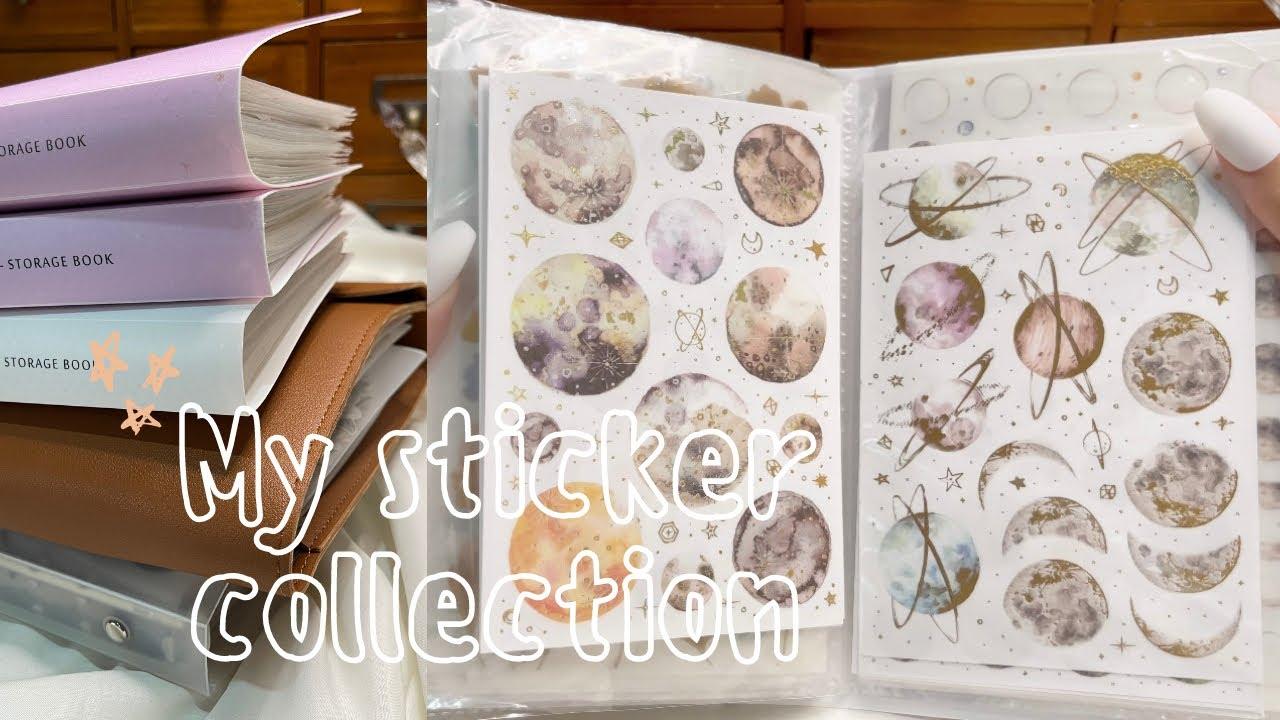 my sticker collection & where i get them! 💐 | sticker book flipthroughs