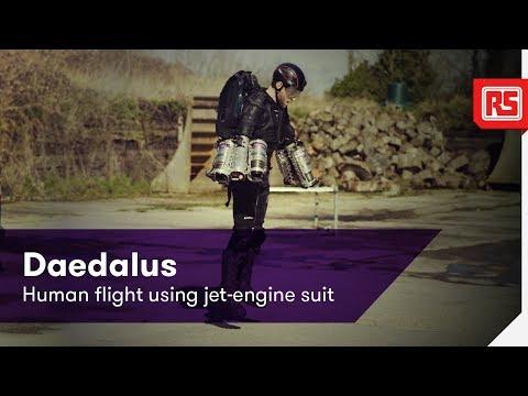 Daedalus - Human flight using jet-engine suit