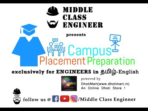 Placement & Aptitude Preparation for Engineers in Tamil | Part 1 | Middle Class Engineer
