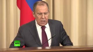 Пресс конференция глав МИД России и Катара