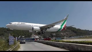 Lowest landing ever ! Air Italy landing at St. Maarten amazing video