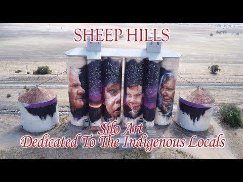 Sheep Hills Silo Art, filmed with the DJI Mavic