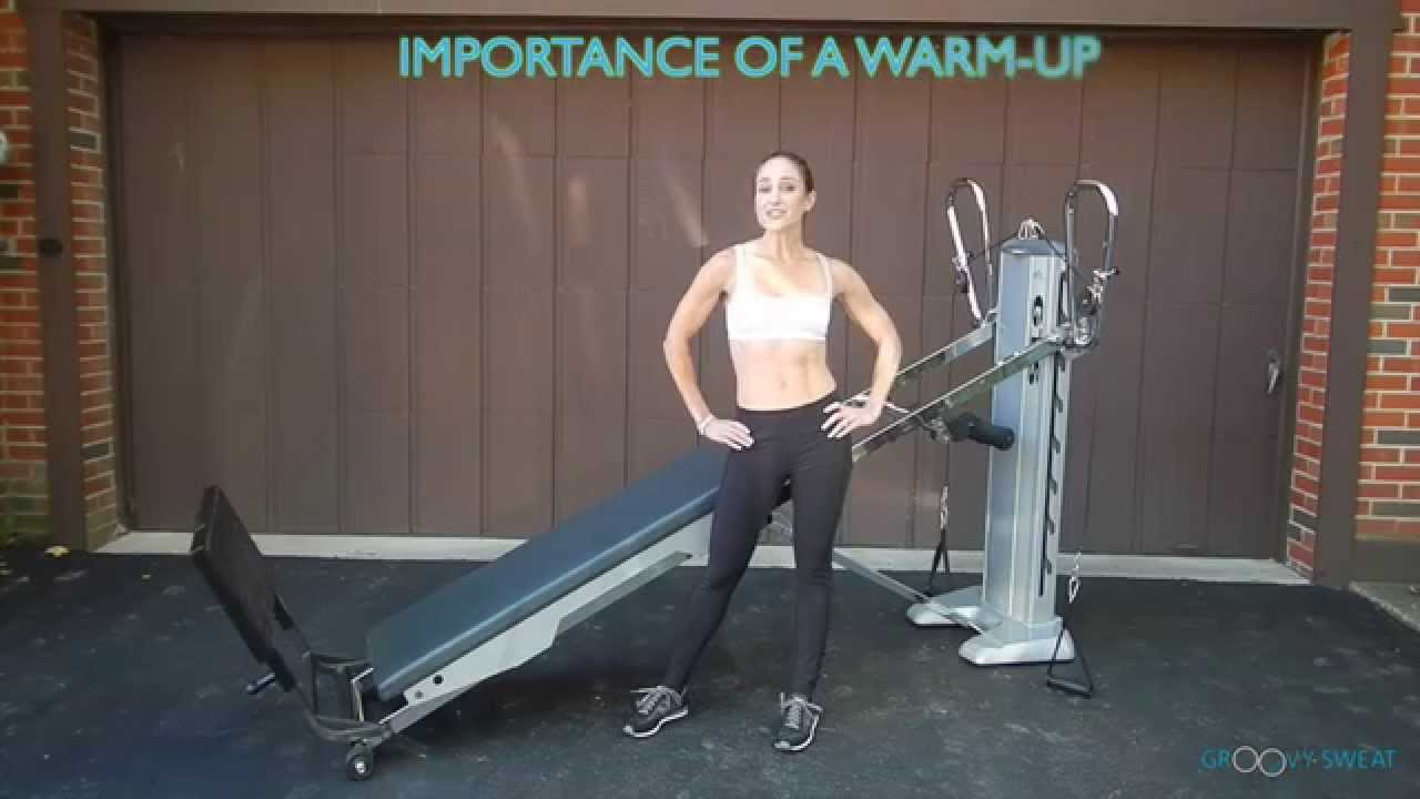 Total gym 60 second full body warmup total gym pulse for Gimnasio total