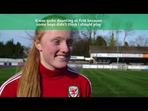 How females fall in love with football in Wales