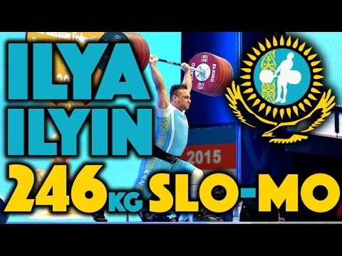 Ilya Ilyin (105) - 246kg Clean and Jerk World Record (Slow Motion)