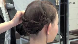 Repeat youtube video 【Hair Arrange】三つ編みで作るアップヘアアレンジ Braided Updo - 第21回