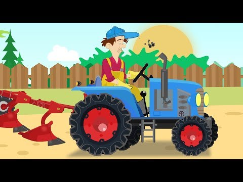 Combine Harvester and red 🚜Tractor Farmers are working - harvest | Bajka Traktor i Rolnicy from YouTube · Duration:  10 minutes 12 seconds