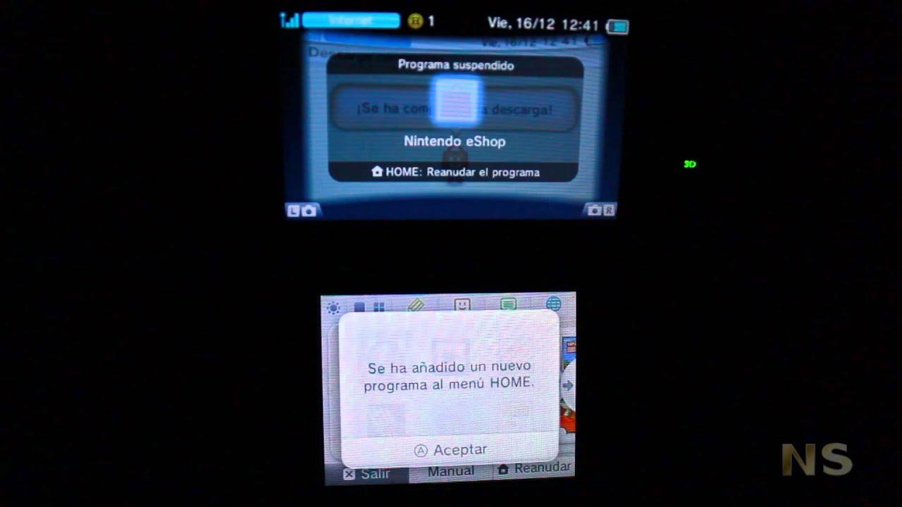 NS Tutorial Bajate los juegos de GBA a tu 3DS Programa Emabajador