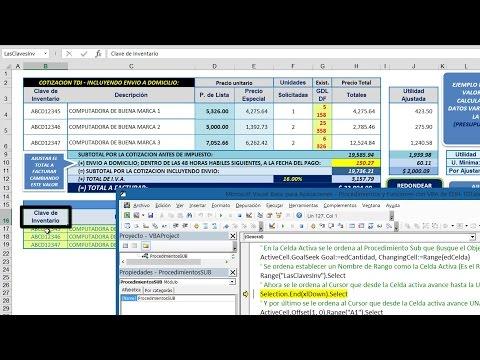 003.24.- Excel Y La Automatización De Cálculos - Parte 4/4