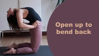 Open up to bend back