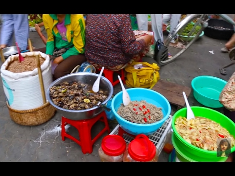 Country Food, Natural Life In Cambodian Market, Asian Market Street Food