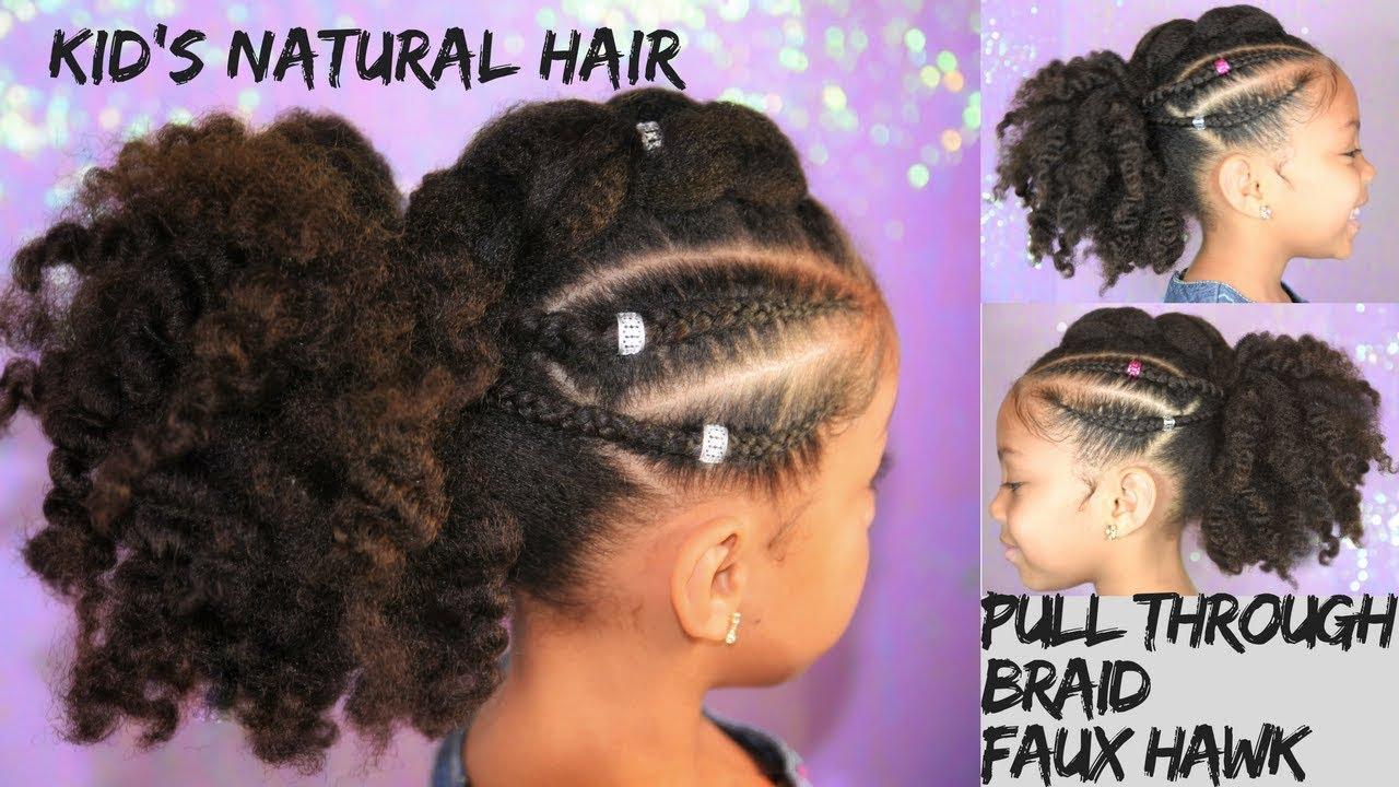 Pull Through Braid Faux Hawk Kids Natural Hairstyle Youtube
