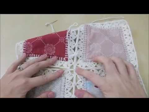 Crochet Quilt Tutorial Part 4 Joining Squares Youtube