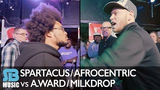 Spartacus and Afrocentric vs A.Ward and MilkDrop | Sparring Sessions | Rap Battle