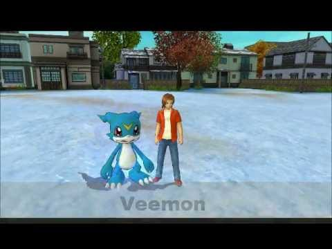 Digimon Masters Online - Veemon - all evolutions and attacks
