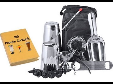 15 Piece Complete Professional Bartending Tool Kit