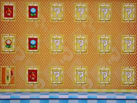 √ New Super Mario Bros Wii Red Mushroom House Chart | New