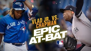 Vlad Guerrero Jr and Aroldis Chapman show down for epic 13-pitch at-bat