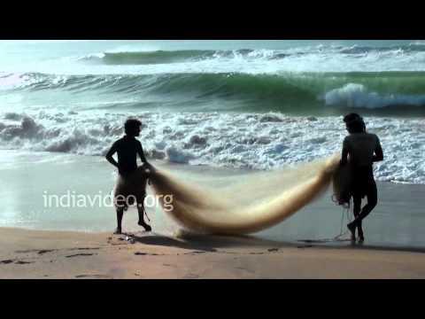 Fish net making in Odisha