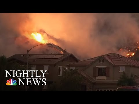 California Holy Fire Growing Quickly, Suspect Arrested | NBC Nightly News