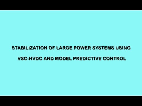 Stabilization of Large Power Systems Using VSC-HVDC and Model Predictive Control