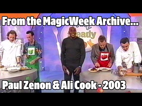 Paul Zenon and Ali Cook  Magicians  Ready Steady Cook  February 2003  MagicWeek.co.uk