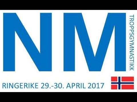 NM i Troppsgymnastikk 2017 Søndag