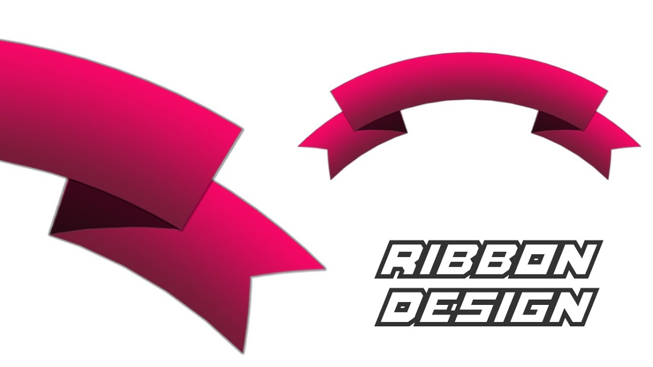 Photoshop tutorial how to make ribbon youtube baditri Image collections