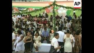 PERU: LIMA: MASS WEDDING CEREMONIES ON VALENTINE'S DAY