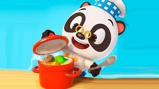 Видео про ресторан малыша Панды | Готовка челлендж #6 в игре для детей