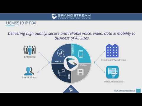Grandstream UCM series IP PBX Training Webinar