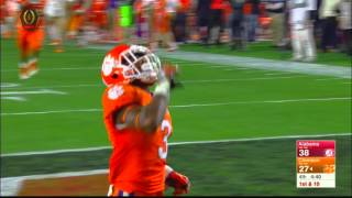 Deshaun Watson to Artavis Scott for touchdown - Alabama vs Clemson