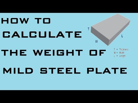 How to Calculate Weight of Mild Steel Plate | Learning Technology