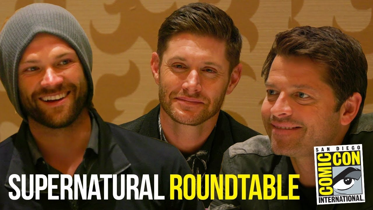 Supernatural Full Cast Roundtable-interviews på Comic Con-7079