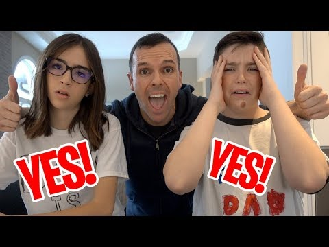 KIDS SAY YES TO EVERYTHING FOR 24 HOURS!!