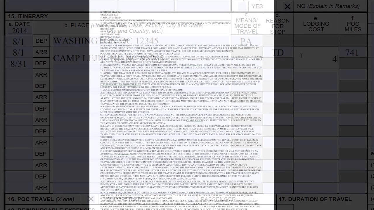 DD Form 1351 2 140929 - YouTube