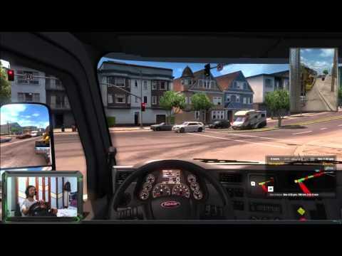 1° dia no american truck simulator ... dirigindo com o Driveing Force GT