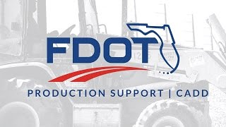 fdot plans development workflow ch 6 cross sections sheets