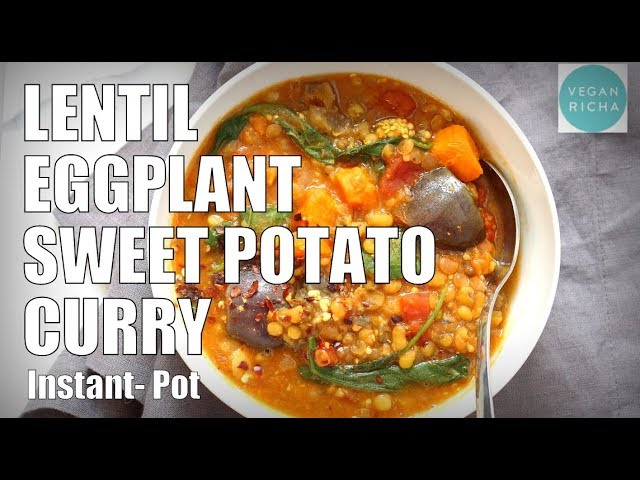 Instant Pot Sweet Potato Lentil Curry /Soup. Saucepan Option | VEGAN RICHA RECIPES
