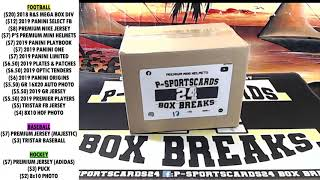 BREAK #3 | 2020 P-SPORTSCARDS24'S PREMIUM SIGNED FOOTBALL MINI HELMET LIVE BOX BREAK