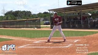 Hamin Feliz OF 2019 Class From Pimentel Baseball Academy Date video 23 06 2018