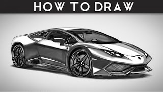 HOW TO DRAW a Lamborghini Huracan - Step by Step | drawingpat(Just a quick sketch of a Lamborghini Huracan. LET ME SEE YOUR DRAWINGS! - POST THEM ON MY FACEBOOK PAGE BELOW VISIT and LIKE for upcoming ..., 2015-06-08T14:36:17.000Z)