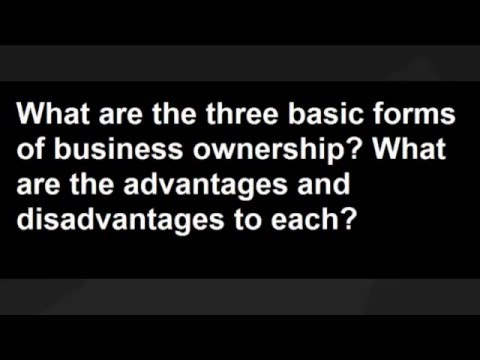 What are the three basic forms of business ownership?