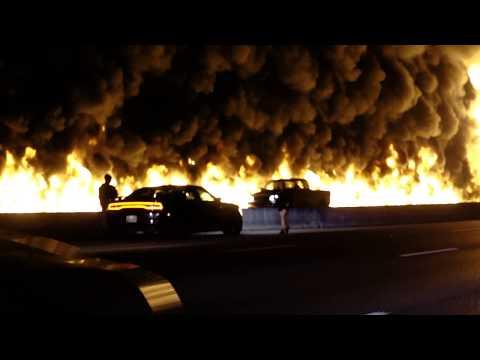 Crazy Tanker Fire I-40 Nashville 10/21/17