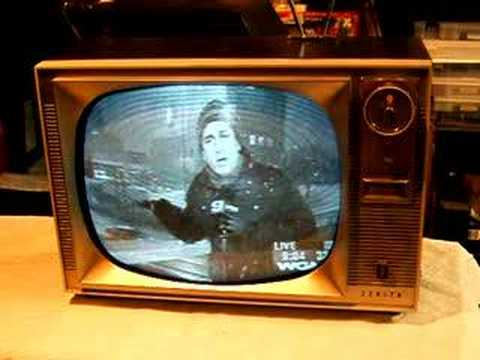 Watch A 1960 Zenith Tv With Remote Control Youtube
