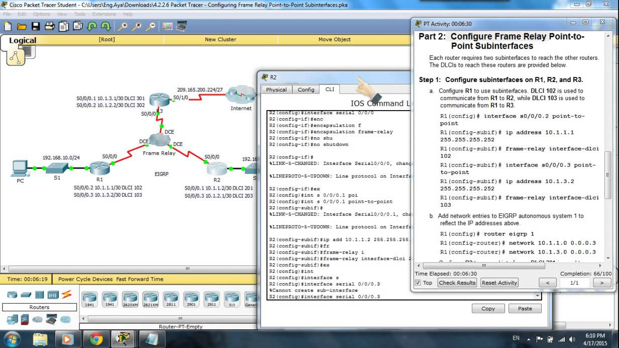 Configuring Frame Relay Point-to-Point Subinterfaces - YouTube