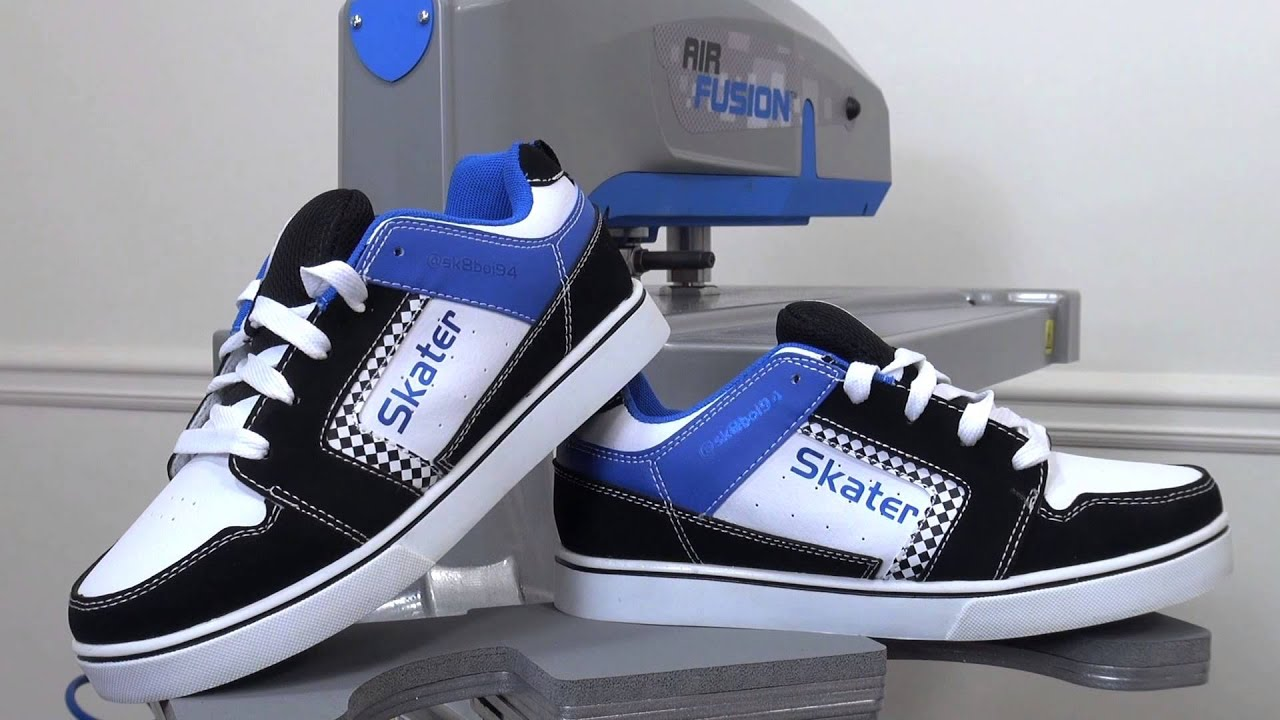 Shoe Customization With Heat Press Transfer Vinyl Youtube