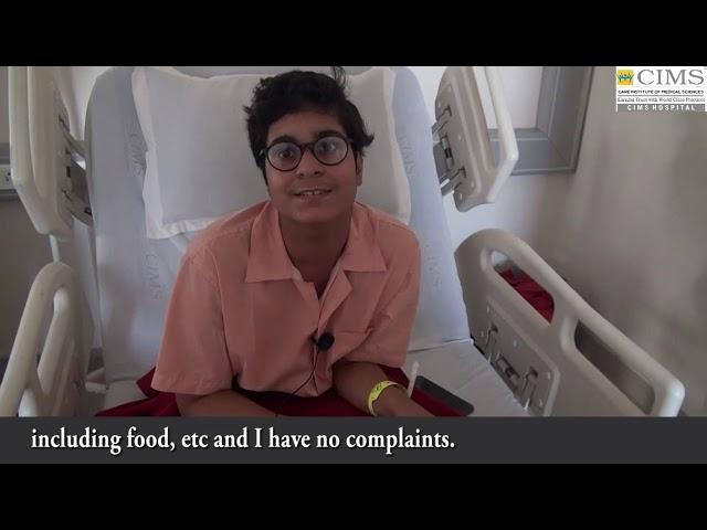 Knee joint injury Arthroscopic Reconstruction - Dr. Rachit Sheth.Patient Testimonial : CIMS Hospital